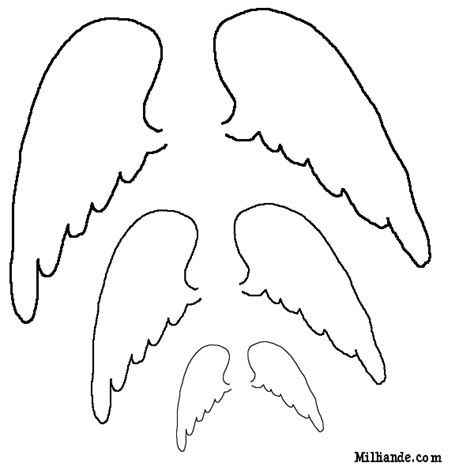 angel wings outline images amp pictures becuo