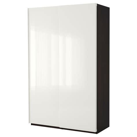High Gloss White Wardrobe by Pax Wardrobe Black Brown Hasvik High Gloss White