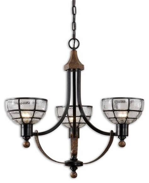 Seeded Glass Chandelier Uttermost Gelati 3 Light Seeded Glass Chandelier Modern Chandeliers By Elite Fixtures