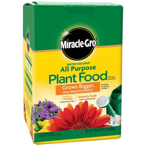 Miracle Gro Water Soluble All Purpose Plant Food, 1.5 lb