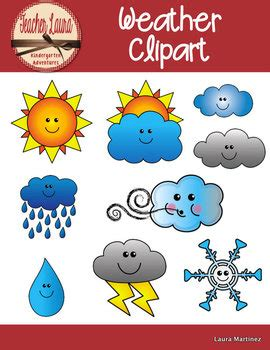 Weather Clipart by Teacher Laura | Teachers Pay Teachers Free Clip Art Weather Pictures