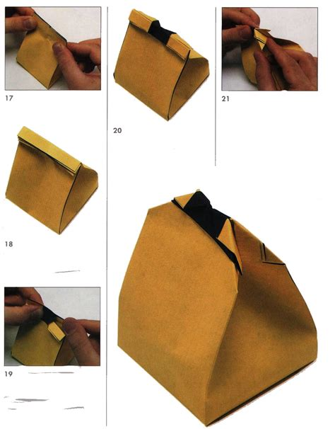 Make Origami Gift Bag - bag of gifts from the paper