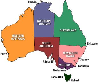 map of australia with capital cities australia map with capitals