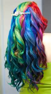 rainbow colored hair 2014 ombre highlights trend 30 rainbow colored