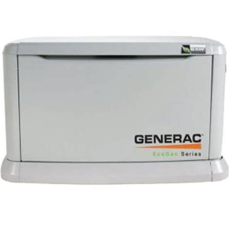 generac 6 000 watt liquid propane fueled automatic backup