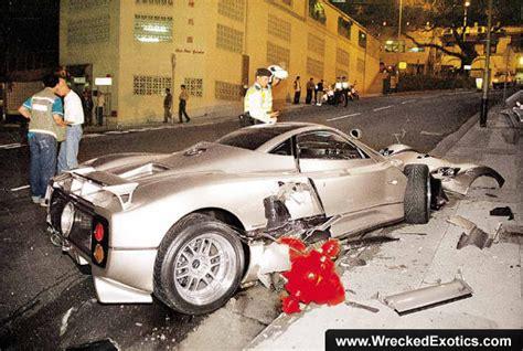 pagani zonda f crashes in hong kong pictures and photos