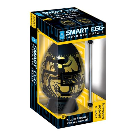 Bepuzzled Smart Egg 2 Layer Labyrinth Puzzle Black Dragon Maddening Shop Your Way Online Smart Puzzle