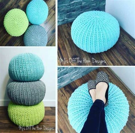 crochet ottoman pattern crochet floor pouf and ottoman free patterns the whoot