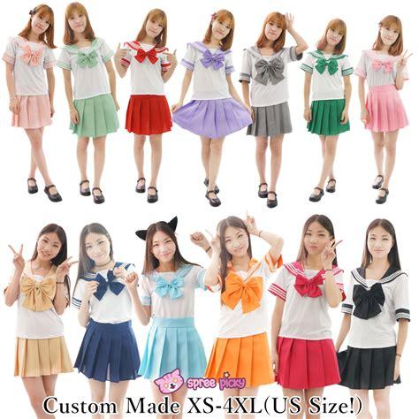 Costum Seifuku custom made us xs 4xl 13 colors sailor seifuku