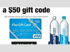 $50 Visa Gift Card Instant Win Giveaway From Smartwater ... $50 Visa Gift Card Png