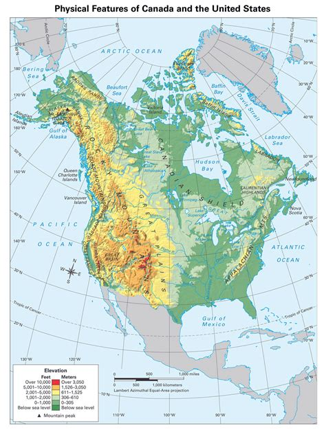 physical map of america large detailed physical map of america america large detailed physical map