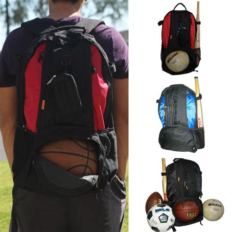 basketball backpack with shoe compartment sport backpack blue black fit basketball football