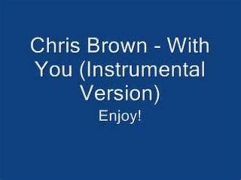 chris brown i need you boo chris brown with you instrumental youtube