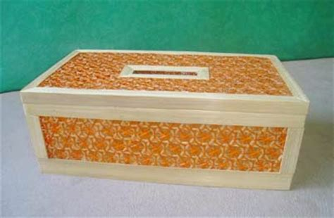 Tempat Tisu Emoticon Kayu Persegi cara membuat kotak atau tempat tisu buatan sendiri