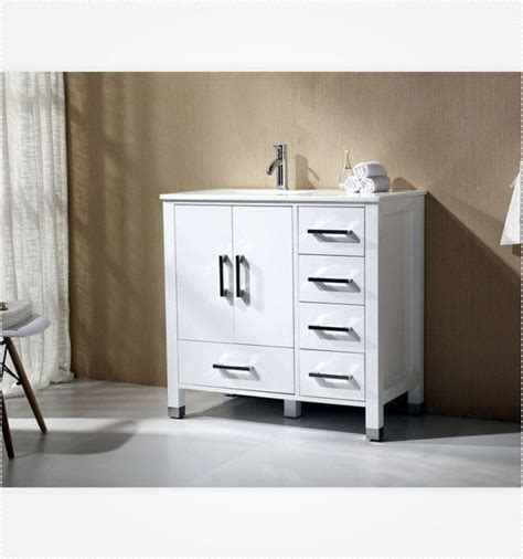 white bathroom vanity canada anziano 40 inch high gloss white bathroom vanity w quartz
