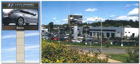 hyundai southend balise hyundai wins approval for large sign in springfield