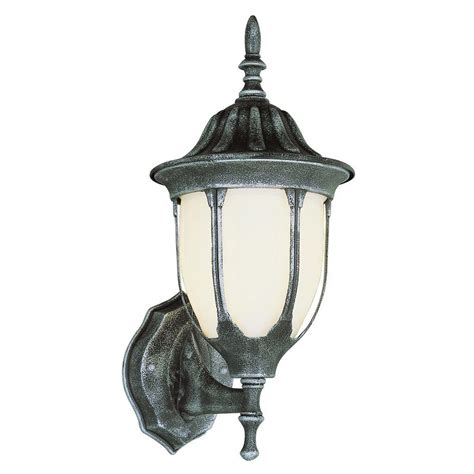 Outdoor Coach Light Bel Air Lighting Cabernet Collection 1 Light Outdoor Black Copper Coach Lantern With White Opal