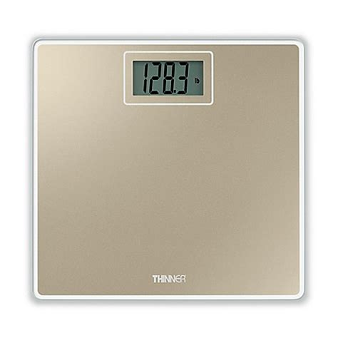 thinner bathroom scale conair 174 thinner 174 digital glass scale in gold bed bath
