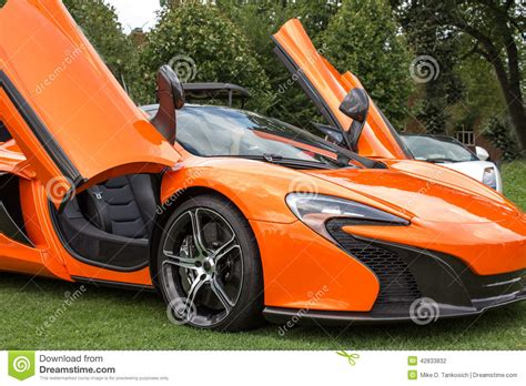 Bright Orange Car by Orange Sports Car Right Side Stock Photo Image 42833832