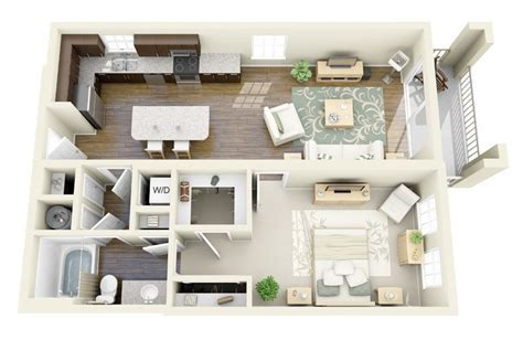 50 One ?1? Bedroom Apartment/House Plans   Architecture