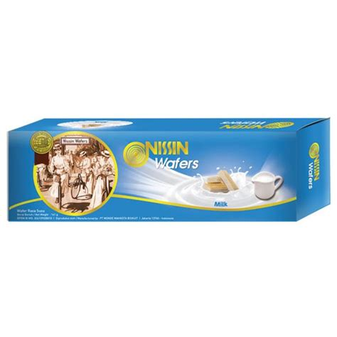Nissin Milk Wafer 120 Gr nissin wafer milk 141 gr elevenia
