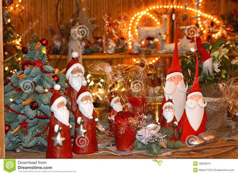 gifts and toys on christmas market stock photo image