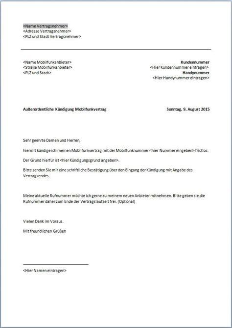 Musterbrief Kündigung Handyvertrag Mobilcom K 252 Ndigung Ausbildung Vorlage K 252 Ndigung Vorlage Fwptc
