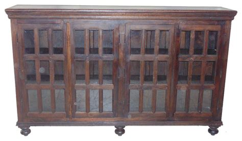 Glass Cabinet 4 Doors Horizontal Buffets And Sideboards Sideboards And Buffets With Glass Doors