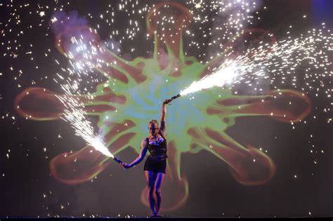 amazing light show amazing light show performers spark fire dance