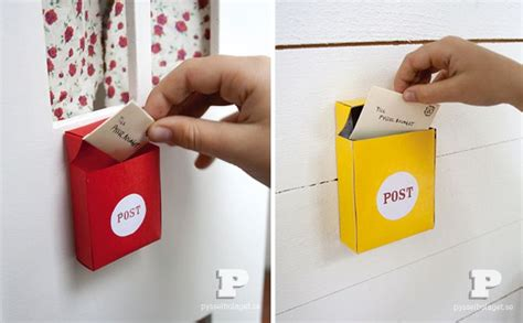 How To Make A Paper Mailbox - diy mini mailboxes with free template by pysselbolaget