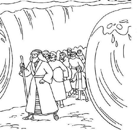 moses coloring pages preschool free coloring pages of moses water from the rock