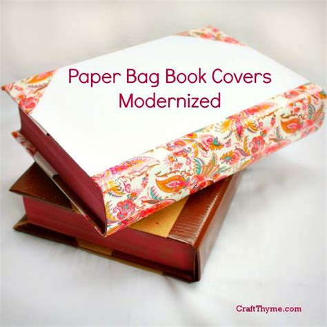 A Paper Book Cover - fashioned paper bag book covers craft thyme