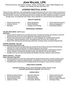 Exle Of Lpn Resume by Sle Area Of Expertise And Summary Statements Resume For Licensed Practical Lpn Resume