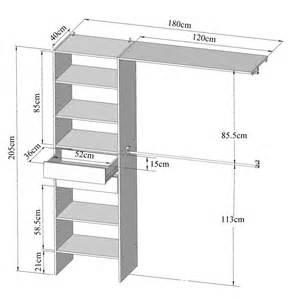 kit am 233 nagement placard 1m80 par 2m05 2 tiroirs maison