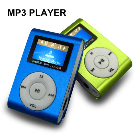 play my music mp sport mp3 player with lcd screen metal mini clip metal