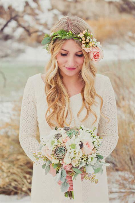 7 Boho Inspired Winter Wedding Hairstyles