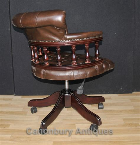 leather swivel desk victorian captains office swivel desk chairs with
