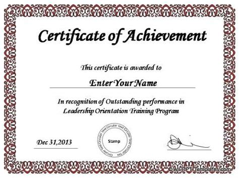 presentation certificate template powerpoint award templates