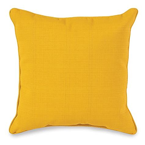 yellow bed pillows buy 17 inch outdoor square throw pillow in yellow from bed bath beyond