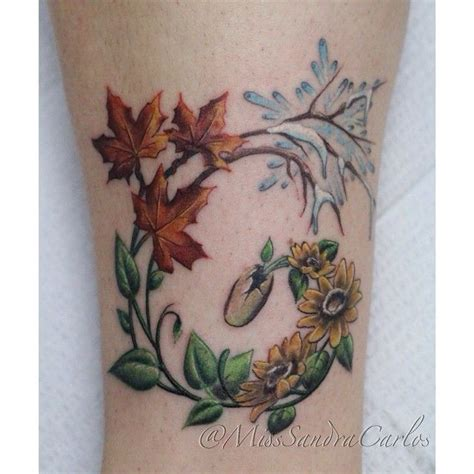 seasons tattoo four seasons tattoos this concept i would use