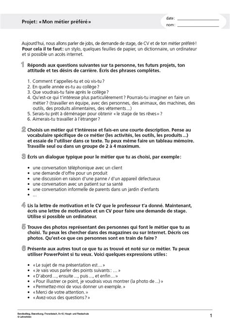 Bewerbungsbrief Franzosisch Muster Bewerbungsschreiben Muster Bewerbungsschreiben 10 Klasse