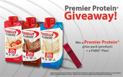Protein Giveaway - premier protein 174 obesityhelp giveaway prize pack a fitbit 174 flex total value of