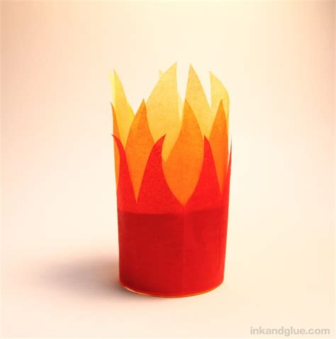 How To Make Tissue Paper Flames - ink glue ink and glue