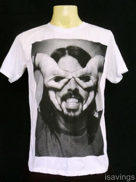 T Shirt Dave Grohl dave grohl foo fighters t shirt rock white cotton s m l