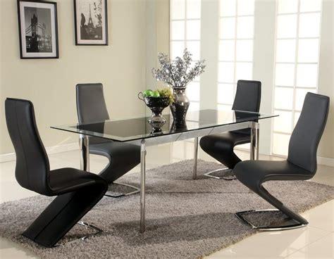 Glass Dining Room Sets Modern Extendable Glass Top Designer Modern Dining Room Baltimore