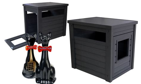 litter loo litter box cabinet litter loo litter box cabinet and scoop with holder groupon