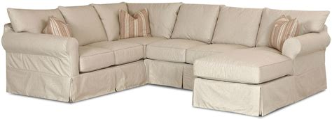 sectional couch slip cover slip cover sectional sofa with right chaise by klaussner