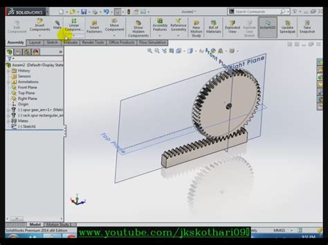 Solidworks Rack Pinion Mate by Rack Pinion Solidworks Cosmecol