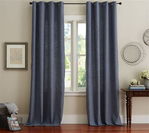 emery drapes emery linen cotton grommet drape 50 x 84 color ink
