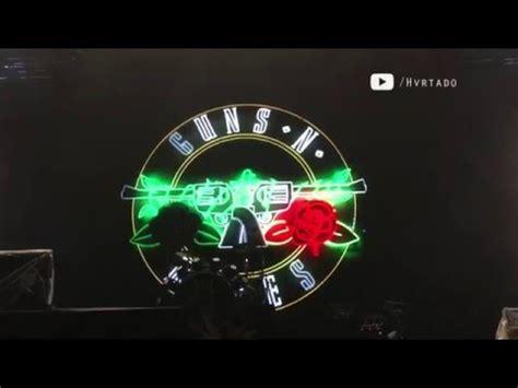 Guns N Roses Logo 2 guns n roses reunion logo on screen mexico city 04